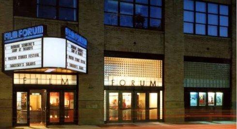 the exterior of the fantastic Film Forum.