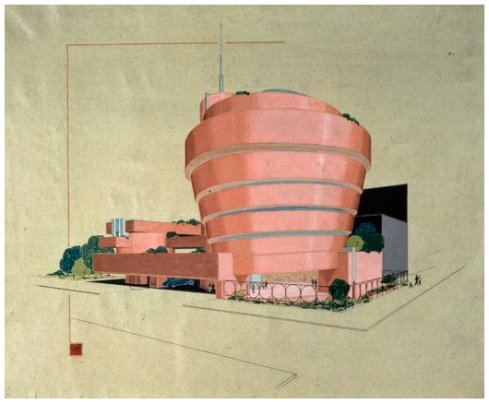 original sketch by Frank Lloyd Wright