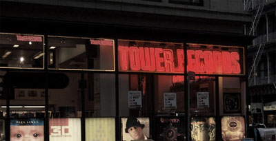 lights out @ the tower records...no mas.