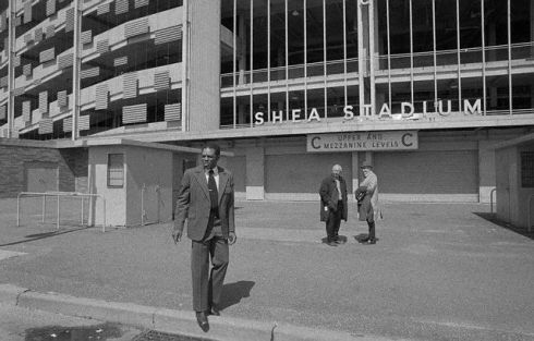 Willie Mays Walking from Shea Stadium