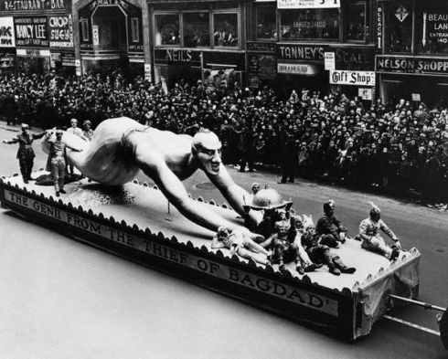 Float Depicting Genie from
